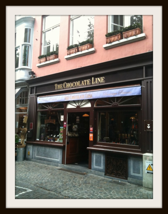 chocolate line store in Brugges