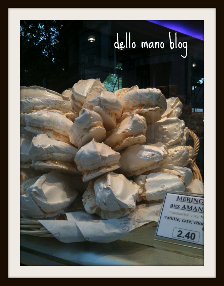 a meringue display