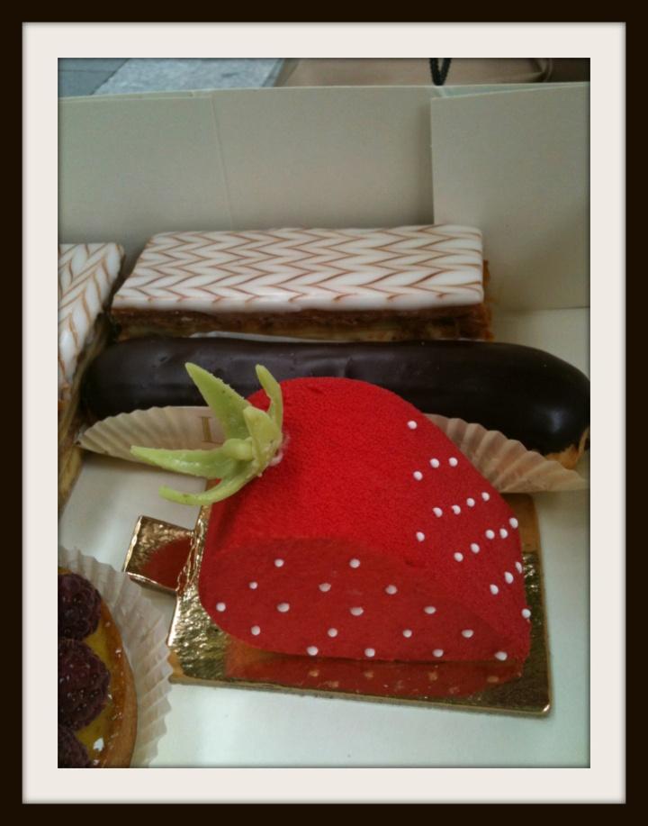 laduree pastry creation - strawberry