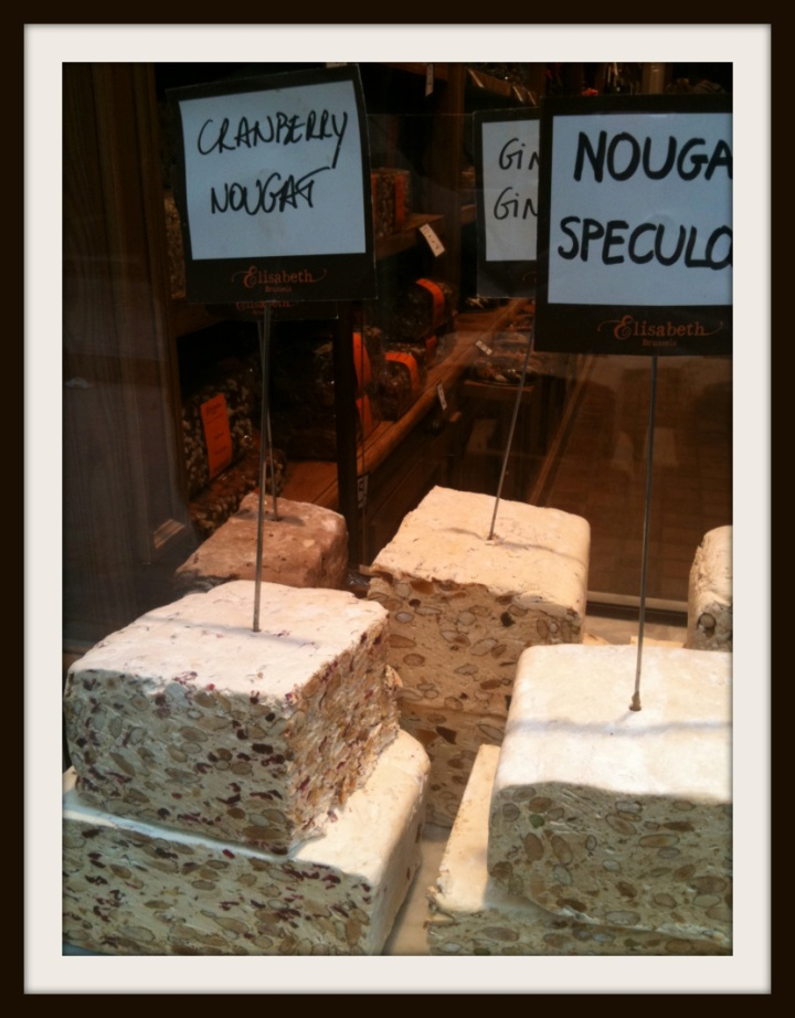 not chocolate but nougat