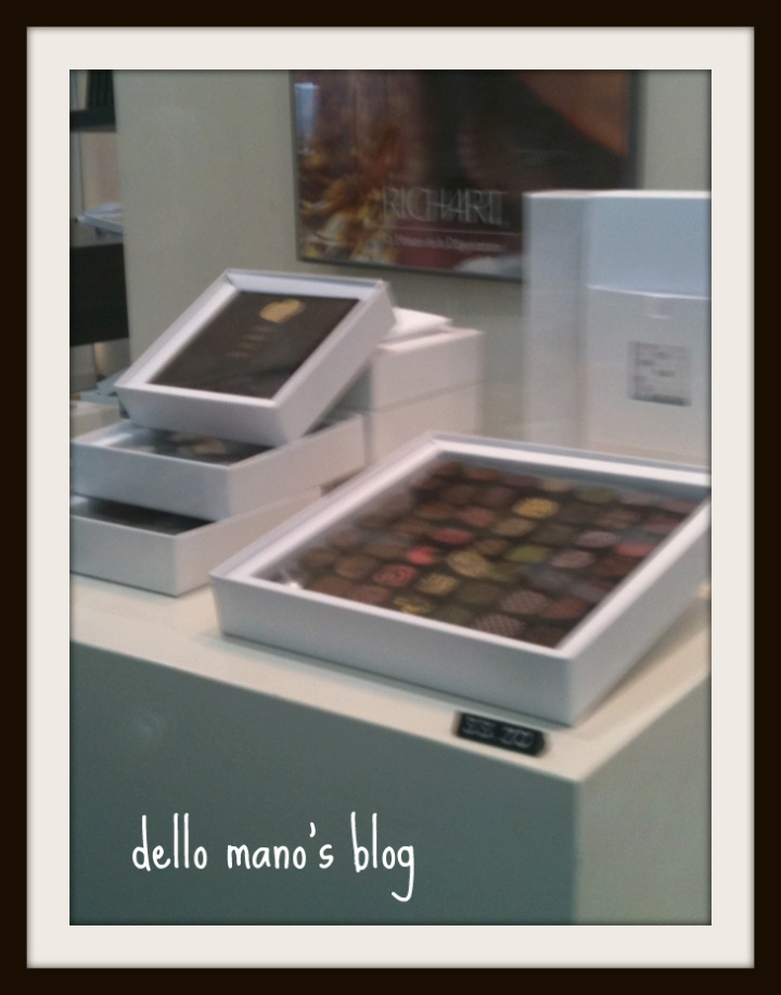 window chocolate display