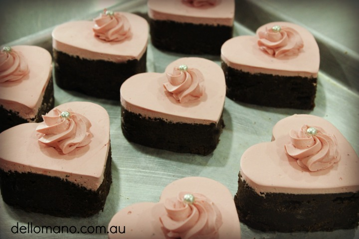 Dello Mano Luxury Brownies Hearts