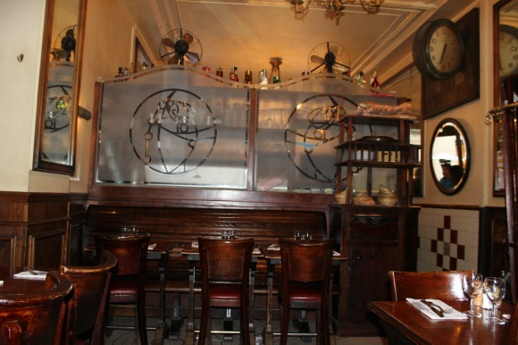 Interior of cafe Au Petit fer a Cheval