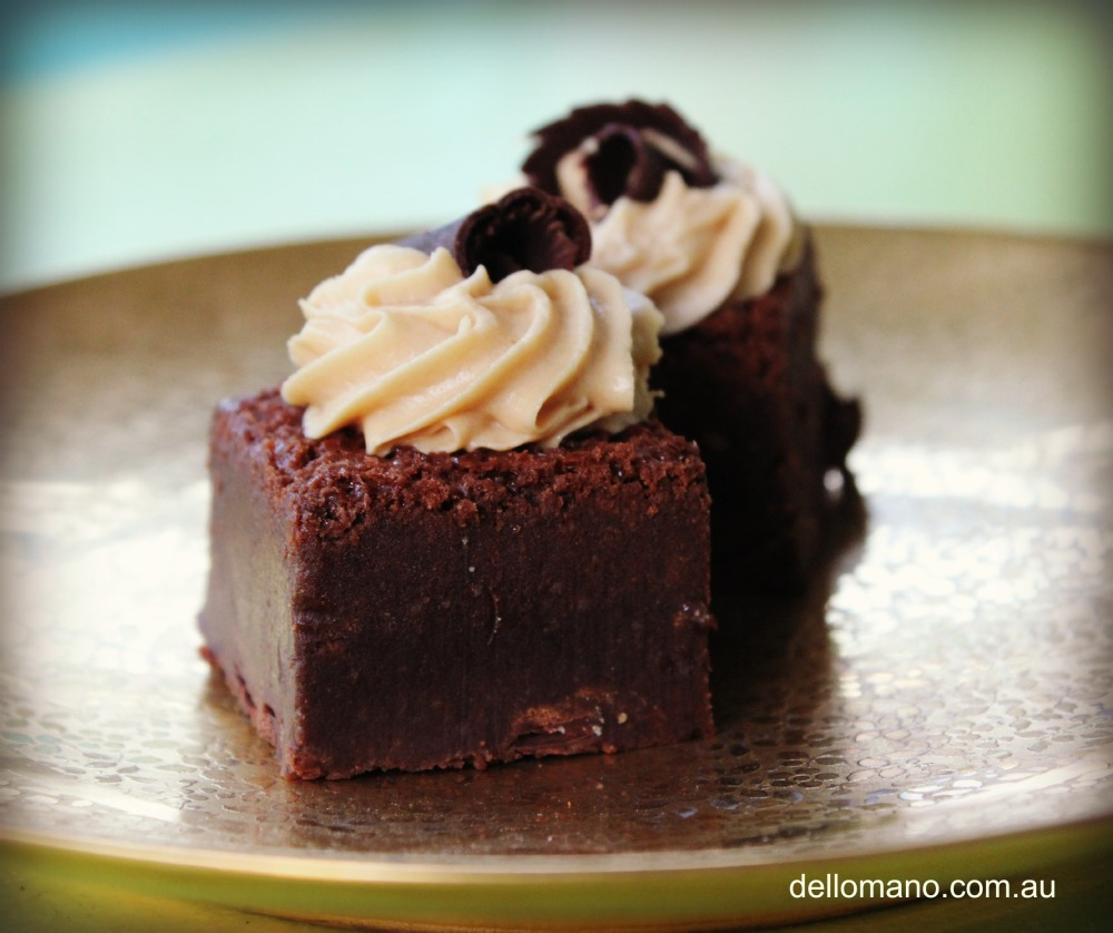 brownies with mousse