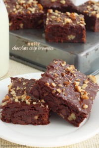 Nutty Chocolate Chip Brownies