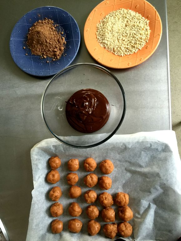 Peanut Butter Truffles ready for rolling