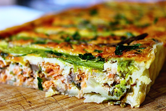 Asparagus and Salmon French Tart