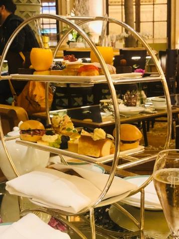 Dello Mano sharing High Tea at the Plaza Hotel NY